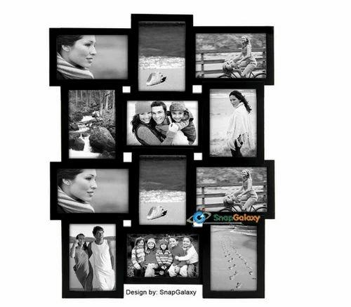 snapgalaxy twelve picture collage frame black क ल ज
