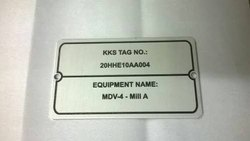 Aluminium Etched Labels