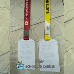 PVC Single Side And Multi Color Lanyard School Id Card