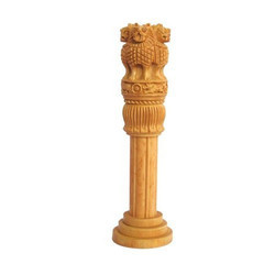 Natural Wood Wooden Ashok Pillar