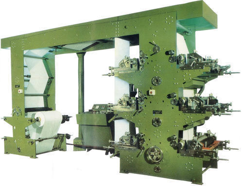 Roll To Roll Four Color Flexographic Printing Machine
