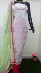 Ladies Gota Patti Work Georgette Suit