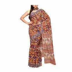 Multi Printed Kalamkari Cotton Saree