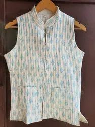 Sleeveless Casual Handmade Cotton Jacket