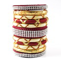 Indian Handcraft New Multicolour Design Silk Thread Bangles