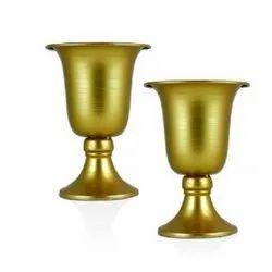 5E627 Metal Golden Pot