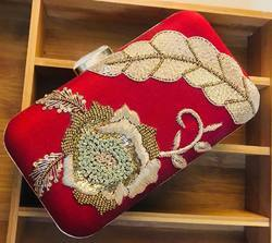 Designer Zardosi Box Clutches