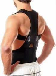 Real Doctor Posture Corrector, Shoulder Back Support Belt for Men and Women (Black)