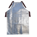 Silver Glass Fiber Heat Protective Aprons, Size: Free Size
