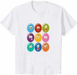 Polyester Printed Men's T Shirts, Size: Medium