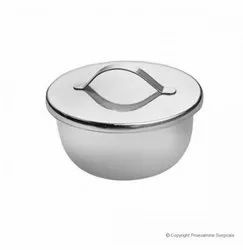 Gallipots Cup Shapped (Stainless Steel) With Cover