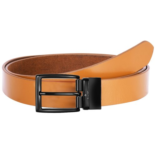 Male Formal Leather Belt With Premium Designer Buckles, Packaging Type: Box