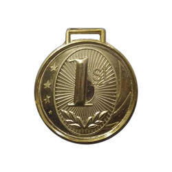 Round Sports Gold Plated Medal