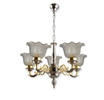 Dual finish brass vine chandelier chandeliers fos lighting dual finish brass vine chandelier aloadofball Image collections