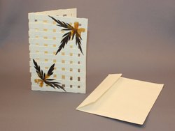Greeting Card With Dry Flower Pasting
