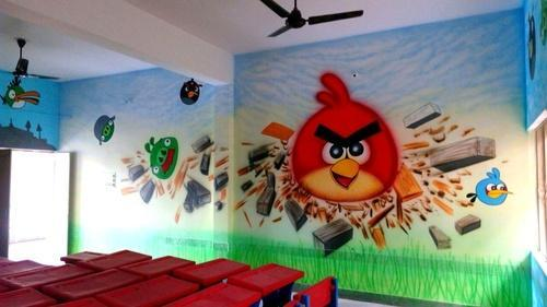 Classroom Decoration Ideas For Pre Primary School : Nursery class wall decoration art service in vijay nagar indore