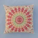 Indian Cotton Red Embroidery Home Decor Decorative Sofa Chair Cushion Cover