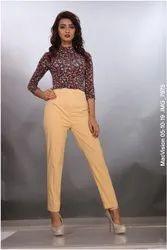 Ladies Cotton Lycra Pant
