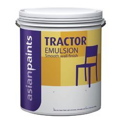 Asian Paints Shell White Tractor Emulsion Paint, For Interior Walls, Packaging Type: Bucket