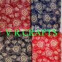 Discharge Pigment Print Rayon Fabric