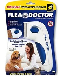 As Seen On TV Flea Doctor Electronic Flea Comb Perfect for Dogs & Cats, Kills & Stuns Fleas