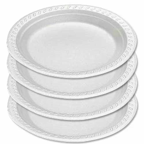 Circular White Disposable Plate  sc 1 st  IndiaMART & Circular White Disposable Plate Rs 10 /packet Raj Guru Enterprises ...