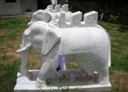 Stone Marble Elephant