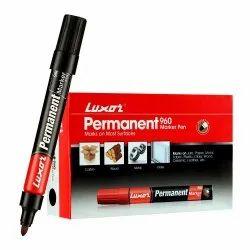 Luxor 960 Permanent Marker - Black, 10