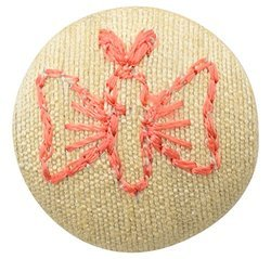 Fabric and Lace Buttons Embroidery Butterfly Design With Color Tread Work Buttons,Buttons For Ethnic