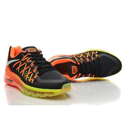 best service df9bb 4033d Box Nike Air Max 2015 Black Green Orange Shoes, Size  41-45