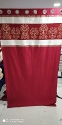 Ice Crush With Sanil Patch Ready Made Curtain