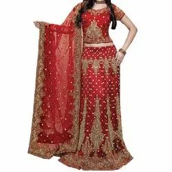 2a30d5936a Full Lady Selection Red Hand Embroidered Bridal Lehenga, Rs 50000 ...