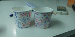 White Printed Paper Cup, Capacity: 50-150 ml