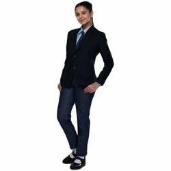 Bharat Garment Dark Blue Girls College Blazer