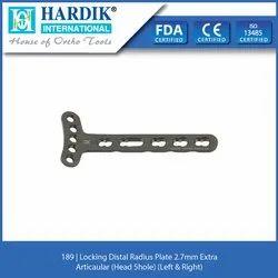 Locking Distal Radius Plate 2.7mm Extra Articaular (Head 5hole) (Left & Right)