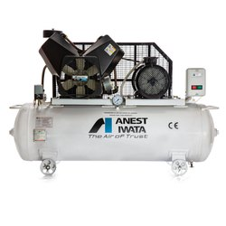 Anest Iwata TFT 75C-9 7.5 HP Air Cooled Oil Free Reciprocating Air Compressor