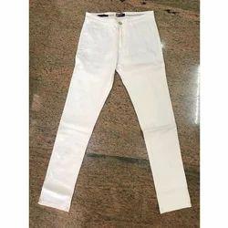 White Men's Casual Cotton Pant