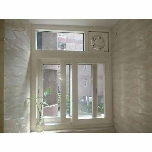 White UPVC Sliding Window, For Bathroom, Rs 550 /square ...
