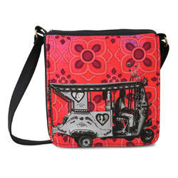 Silver Taxi Sling Bag