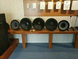 Black Wooden Speaker System