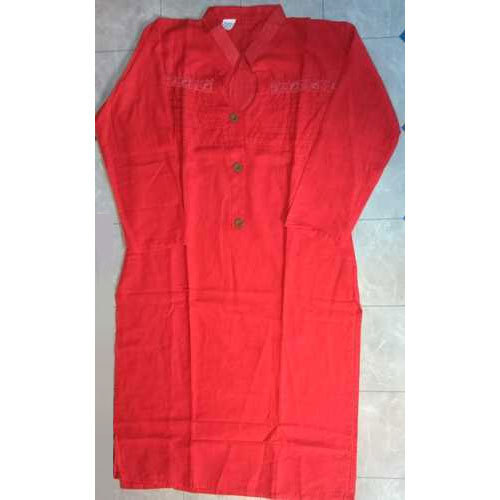Stand Collar Designs For Kurti : Cotton red ladies designer stand collar kurti rs piece
