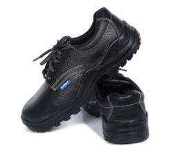 PU Black Safety Shoes, Packaging Type: Box, Sole Type: PU