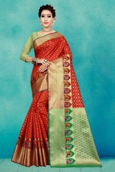 6.3 m (with blouse piece) Wedding Richa Fashion World Banarasi Silk Saree