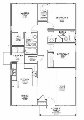 Complete Floor Plan Residential Apartment Layout Design ...