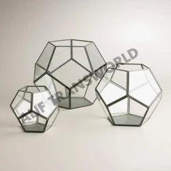 Designer Antique Finish Geometric Terrarium