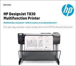 HP Plotter Printer, Model Number: T830, Warranty: 1 - 2 Years