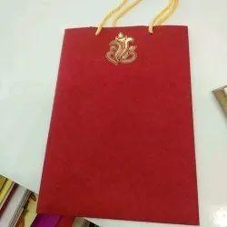 Carry Bag Wedding Card
