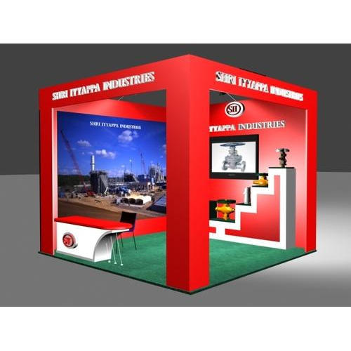 Exhibition Stall Height : Red modular exhibition stalls height feet rs kit