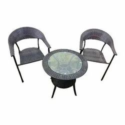 Universal Furniture Balcony Table with 2 Sofa Chair Set with Cushion