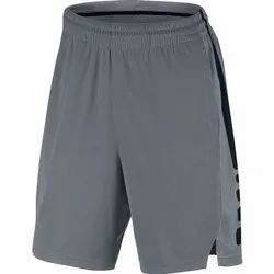 Thigh Length Plain Polyester Basketball Shorts, Size: 28-36 Inches